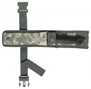 Gerber Warrant Knife, Serrated Edge, Tanto, with Camo Sheath [31-000560]