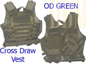 Tactical Cross-draw Vest with a Pistol Belt by Generic