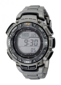 Casio PAG240T-7CR Watch with Triple-Sensor